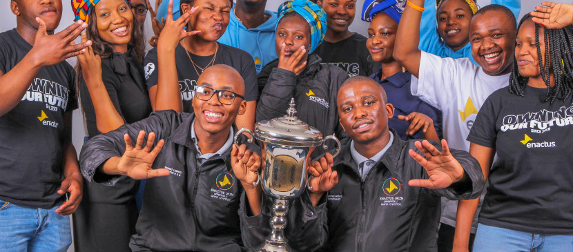 National Champion team of the University of KwaZulu-Natal representing South Africa at the 20th Anniversary  of the Enactus World Cup